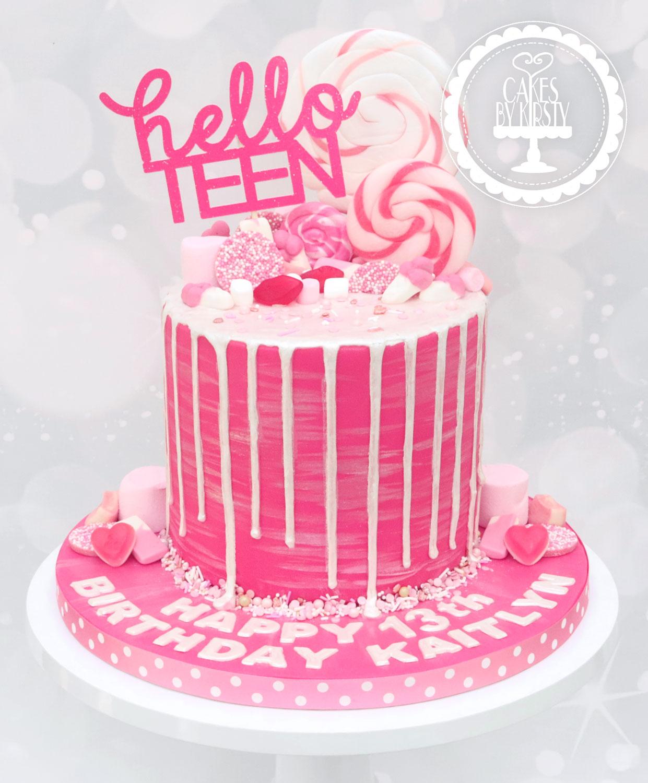 20200110 - Hello Teen Drip Cake