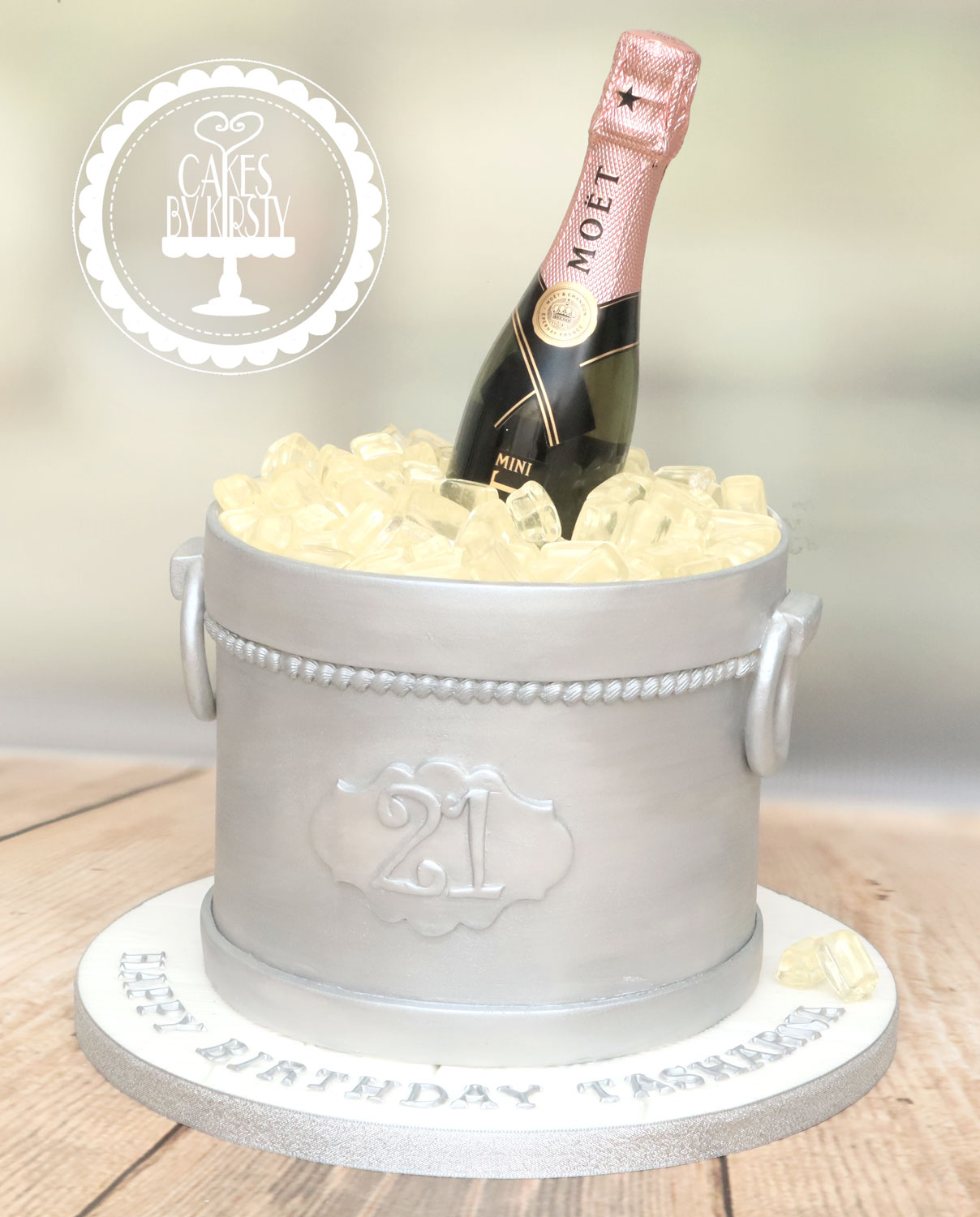 20201120 - Champagne Ice Bucket Cake