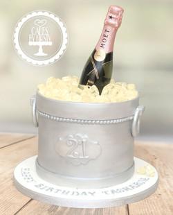 20201120 - Champagne Ice Bucket Cake