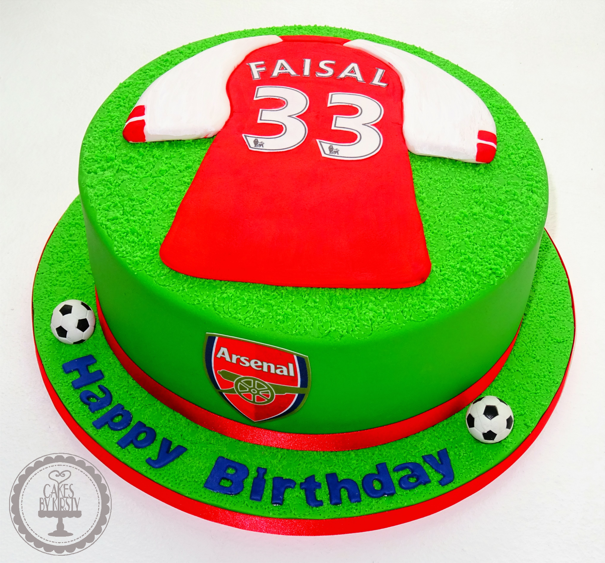 Arsenal Football Shirt Cake