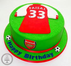 Arsenal Football Shirt Cake