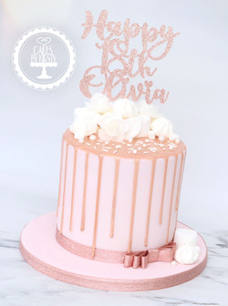 20201010 - Rose Gold Drip Cake