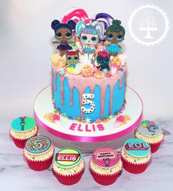 LOL Surprise Cake & Cupcakes