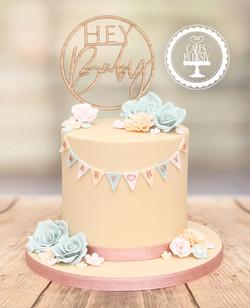 20210122 - Rustic Baby Shower Cake