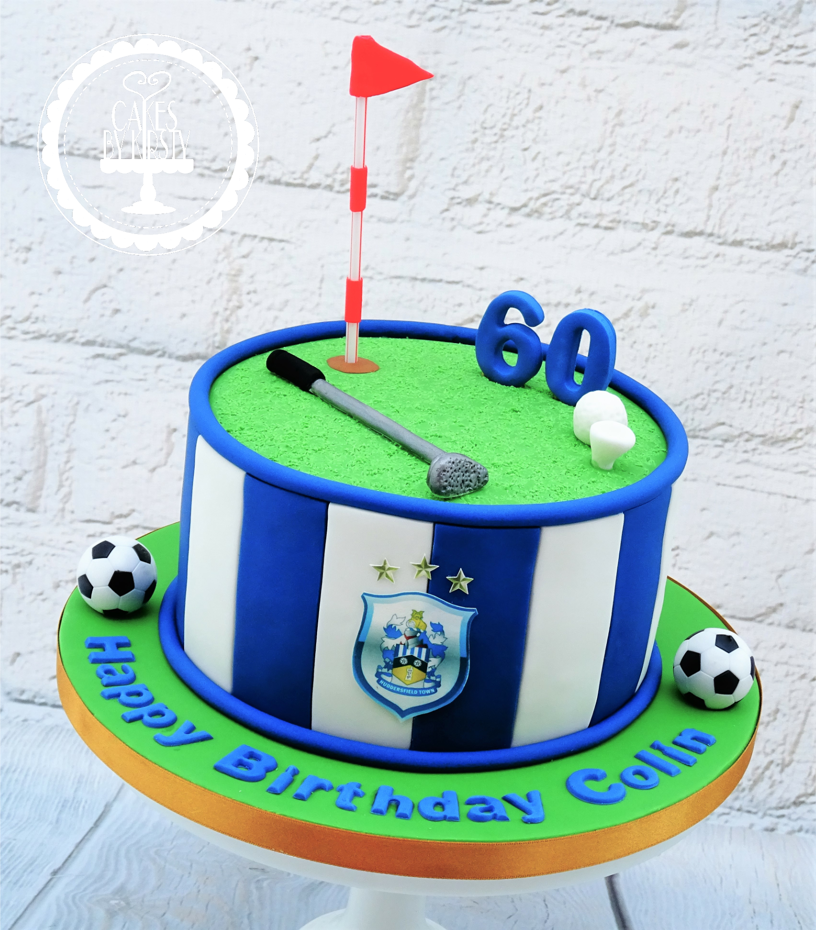 Huddersfield Town Football & Golf Cake