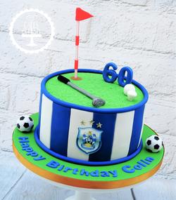 Huddersfield Town Football & Golf Cake