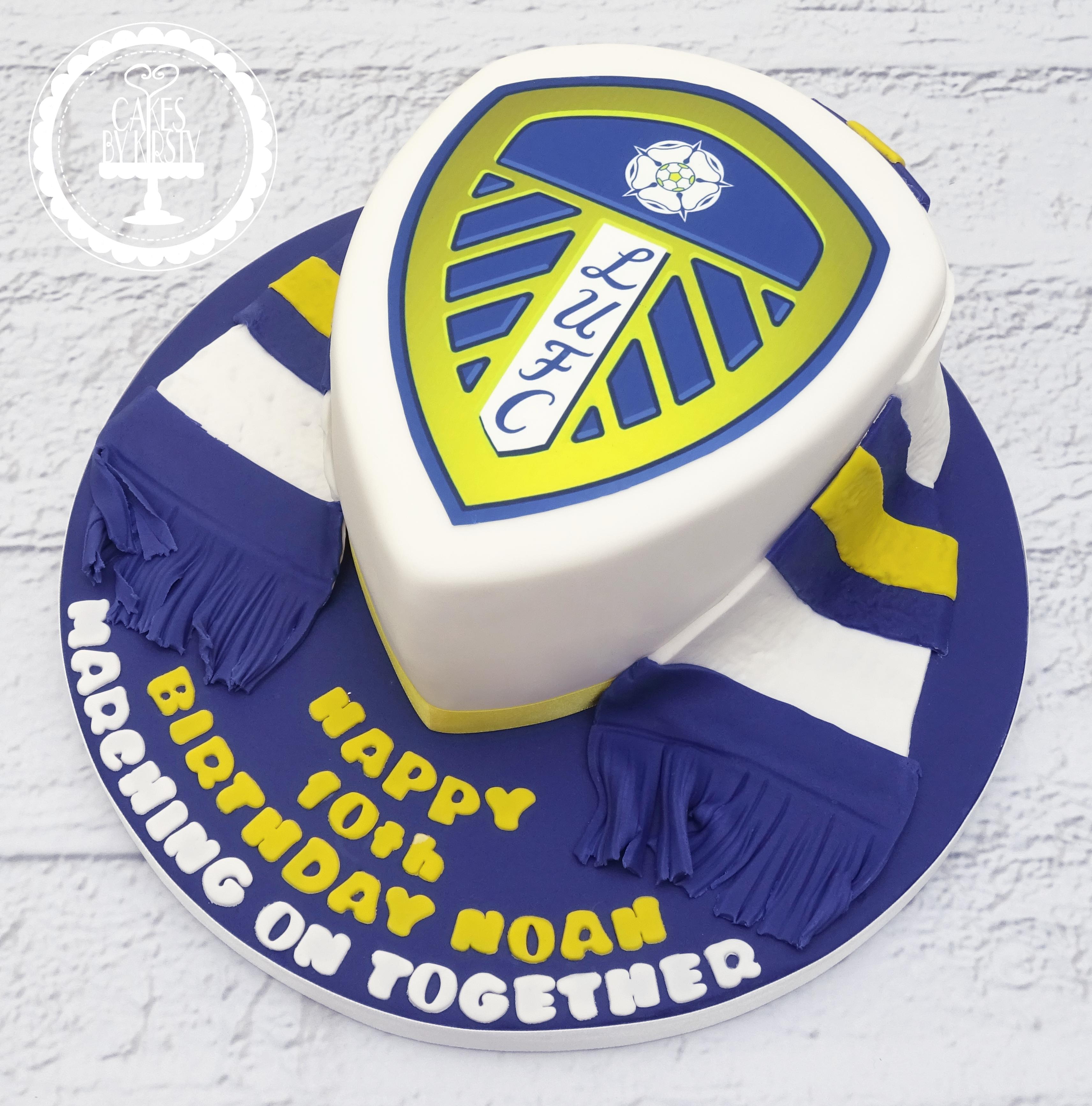 Leeds United 10th Birthday Cake