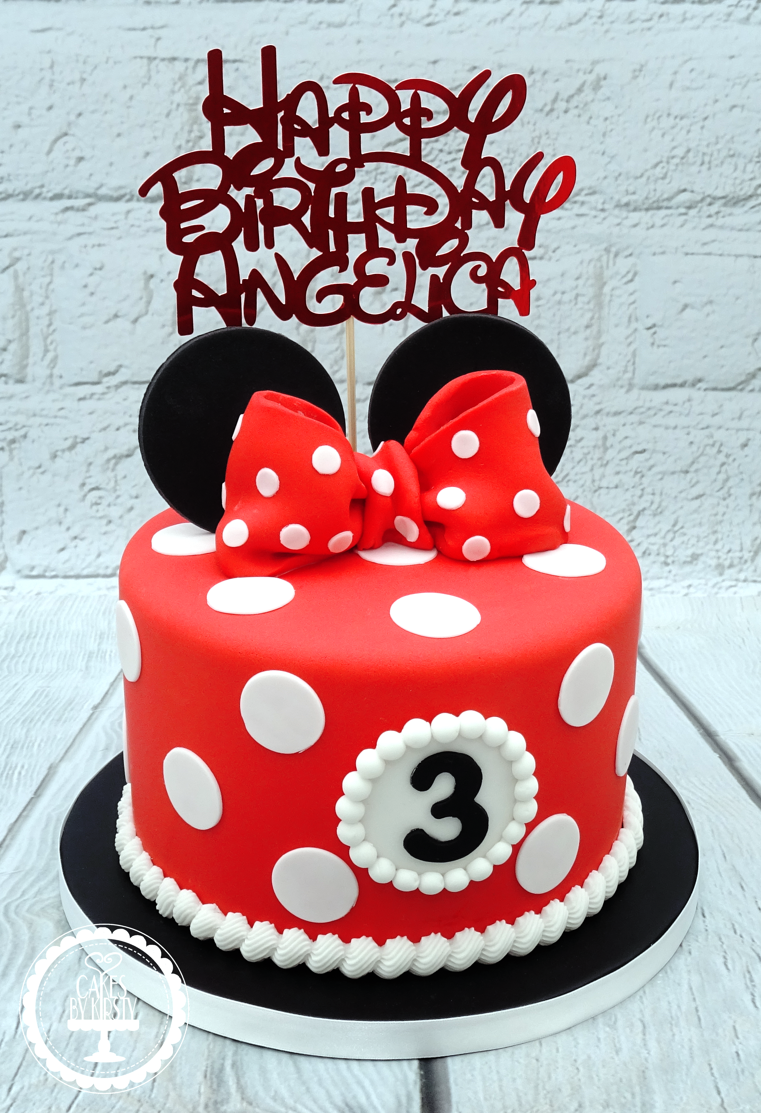 Minnie Mouse 3rd Birthday Cake