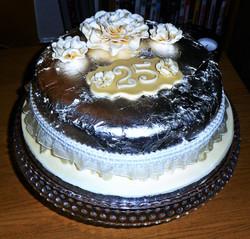 25th Silver Wedding Anniversary Cake