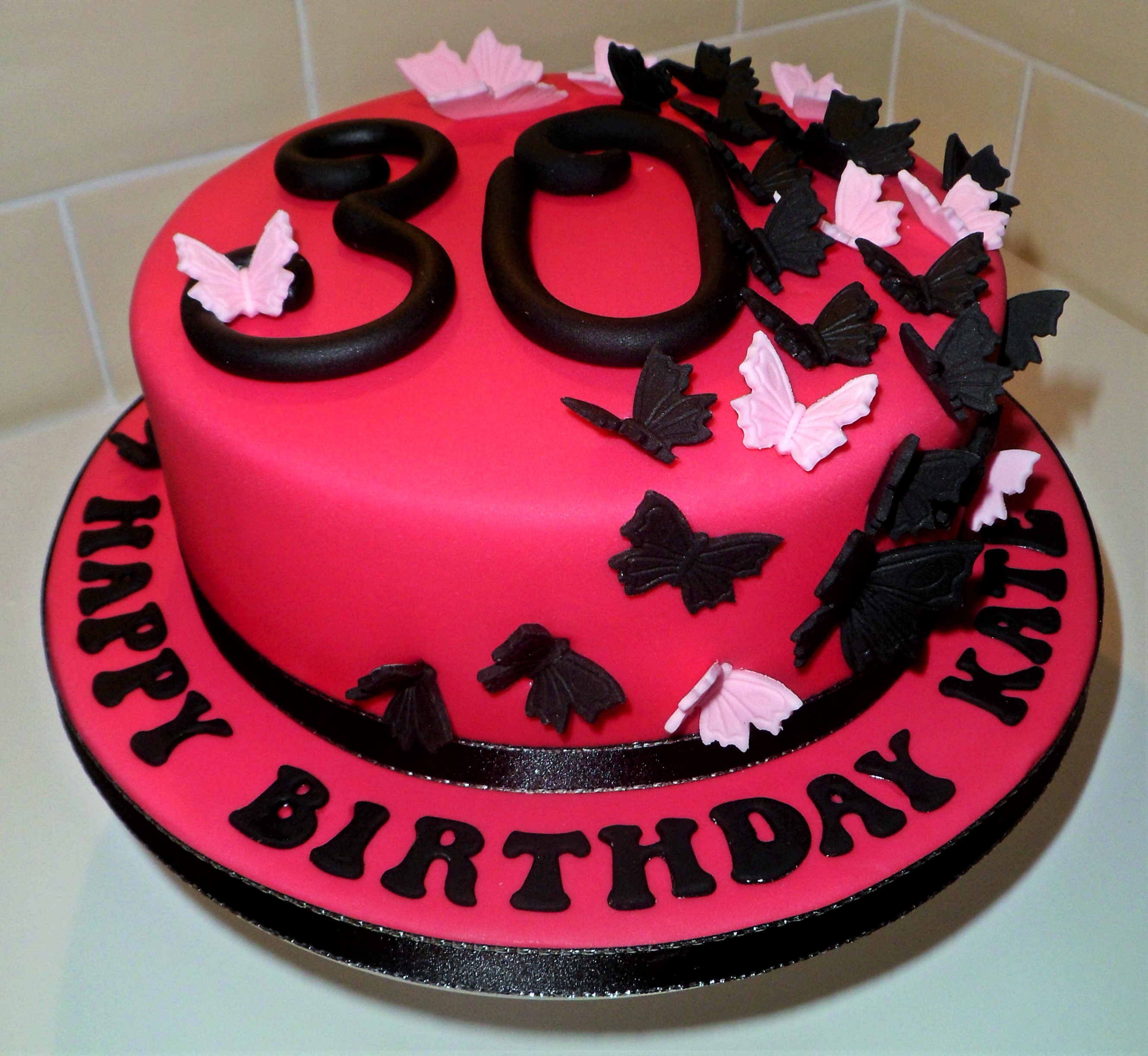 30th Butterfly Cake