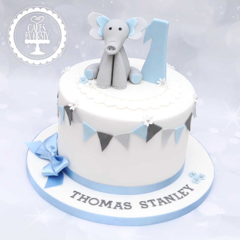 20200321 - Elephant 1st Birthday Cake