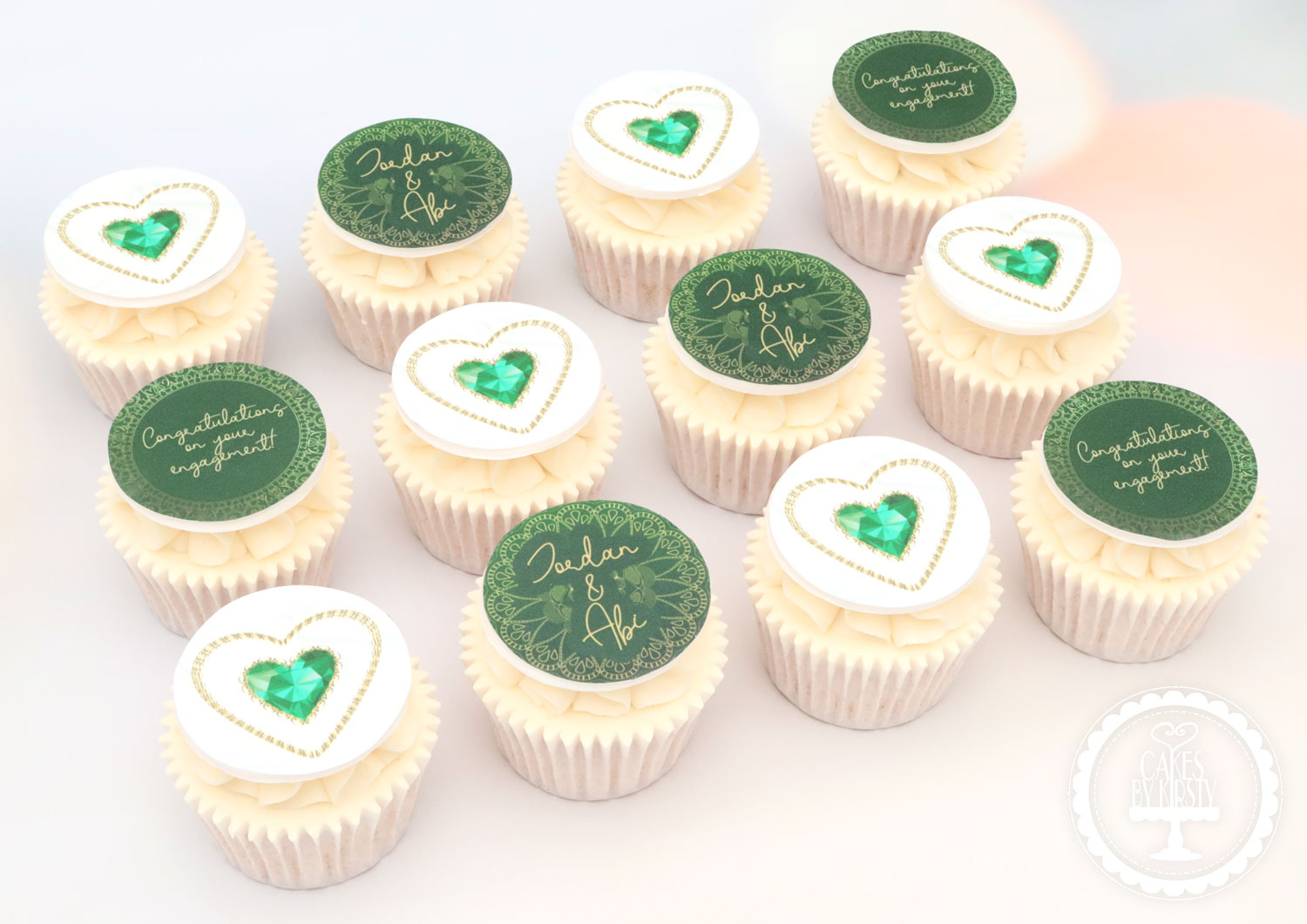 20200920 - Emerald Engagement Cupcakes