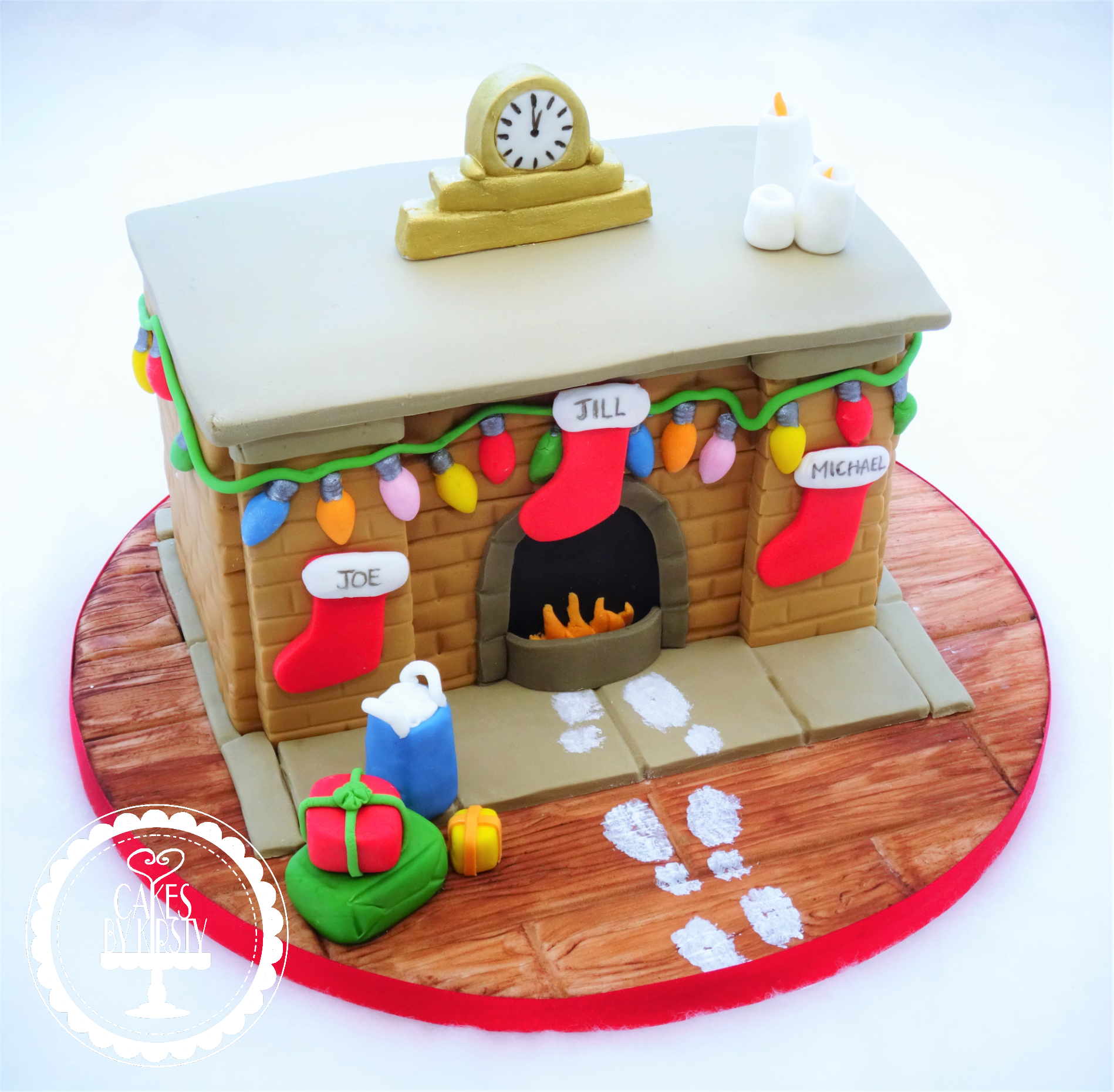 Fireplace Christmas Cake
