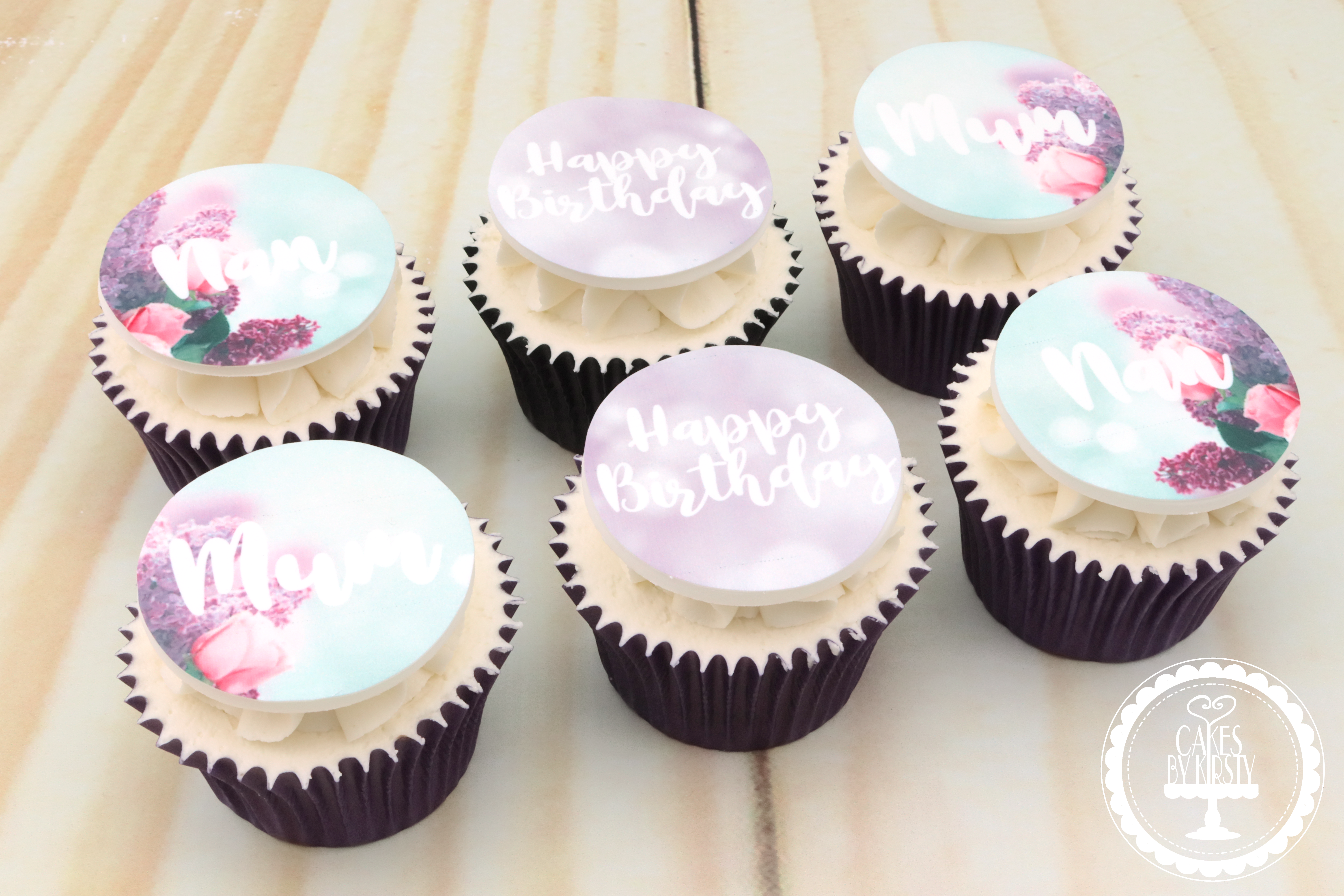 20190817 - Floral Birthday Cupcakes