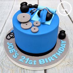 Gym 21st Birthday Cake