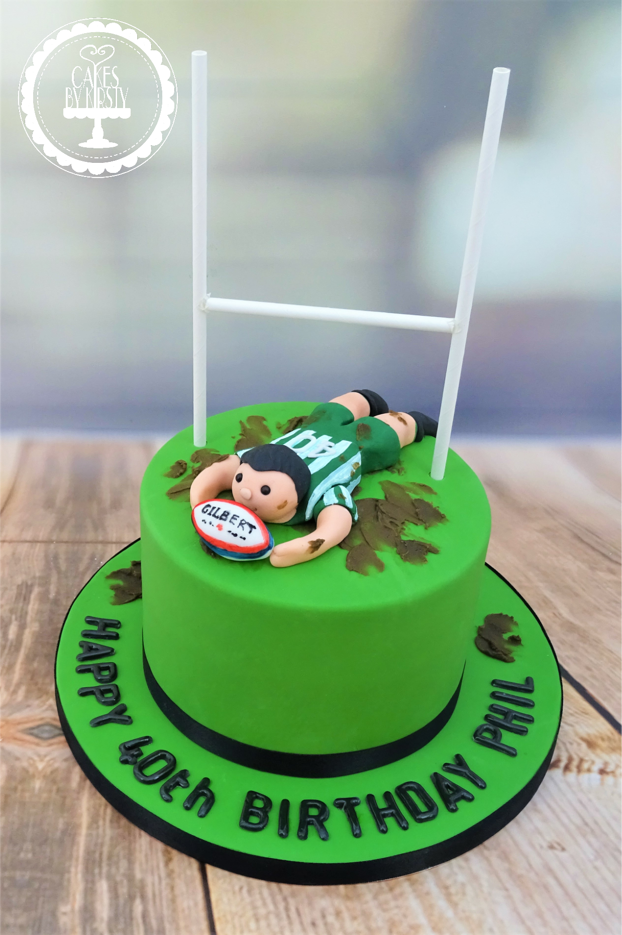 Rugby 40th Birthday Cake