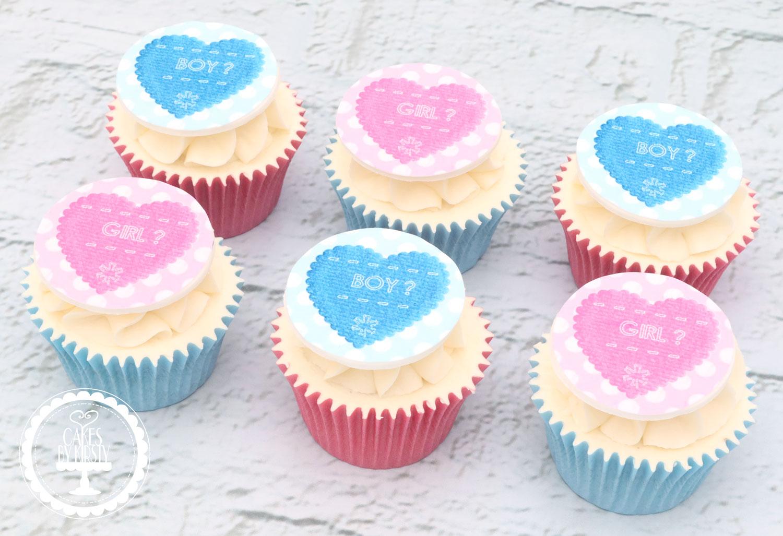 20200920 - Gender Reveal Cupcakes
