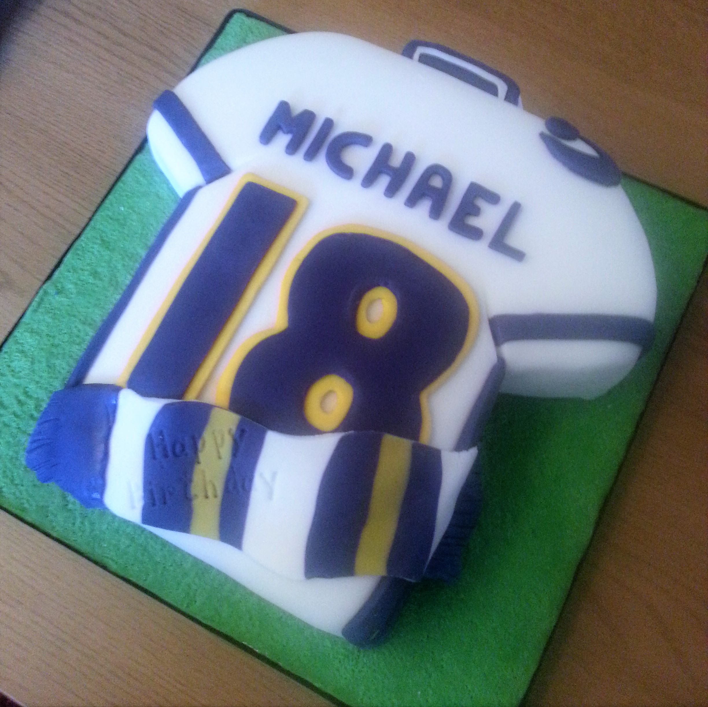 Leeds United Shirt Cake