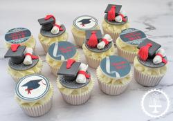 Graduation Cap & Scroll Cupcakes