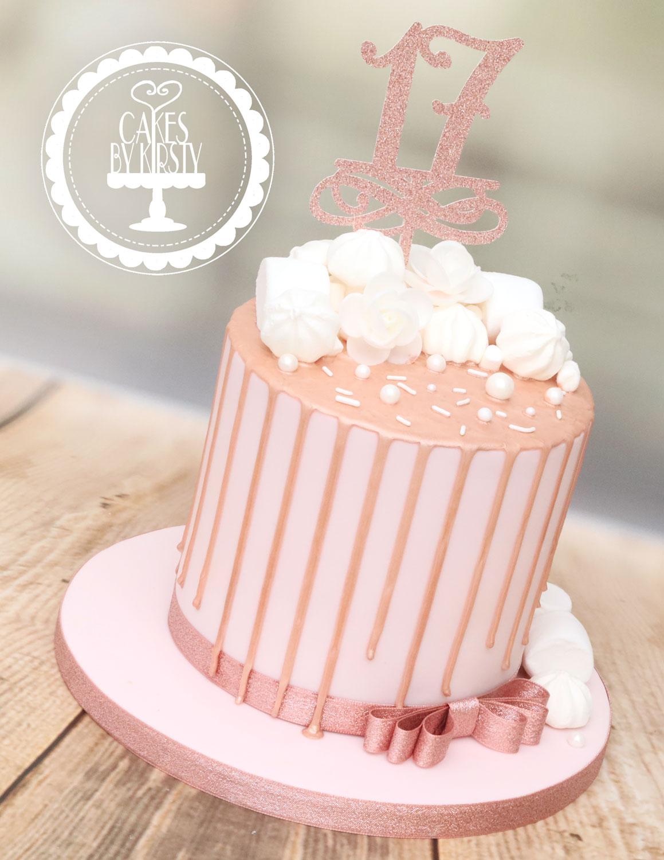 20201113 - Rose Gold Drip Cake