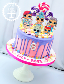 LOL Surprise Doll Drip Cake