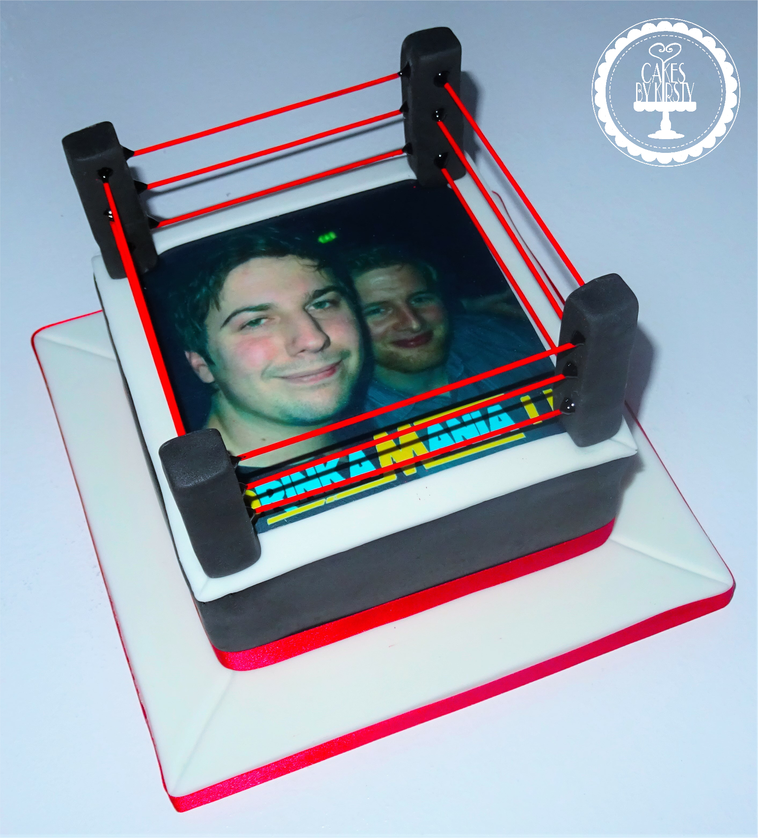 Wrestling Stag Do Cake