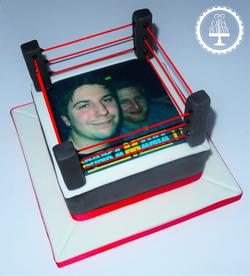 Wrestling Stag Do Cake
