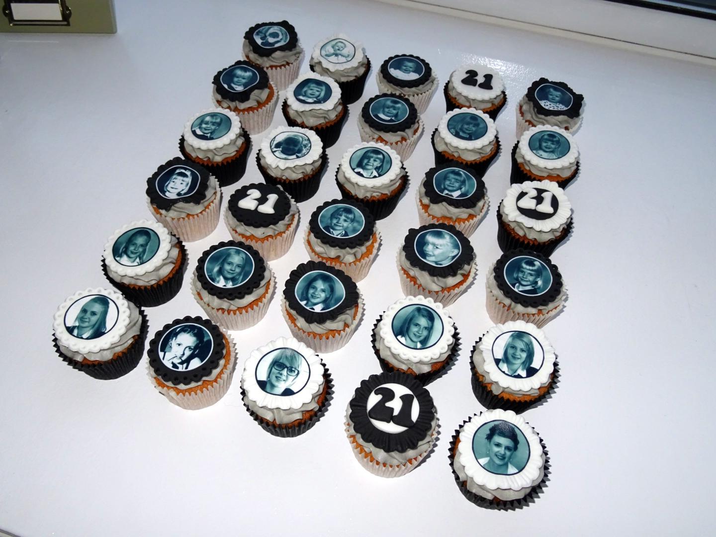 21st Photo Cupcakes
