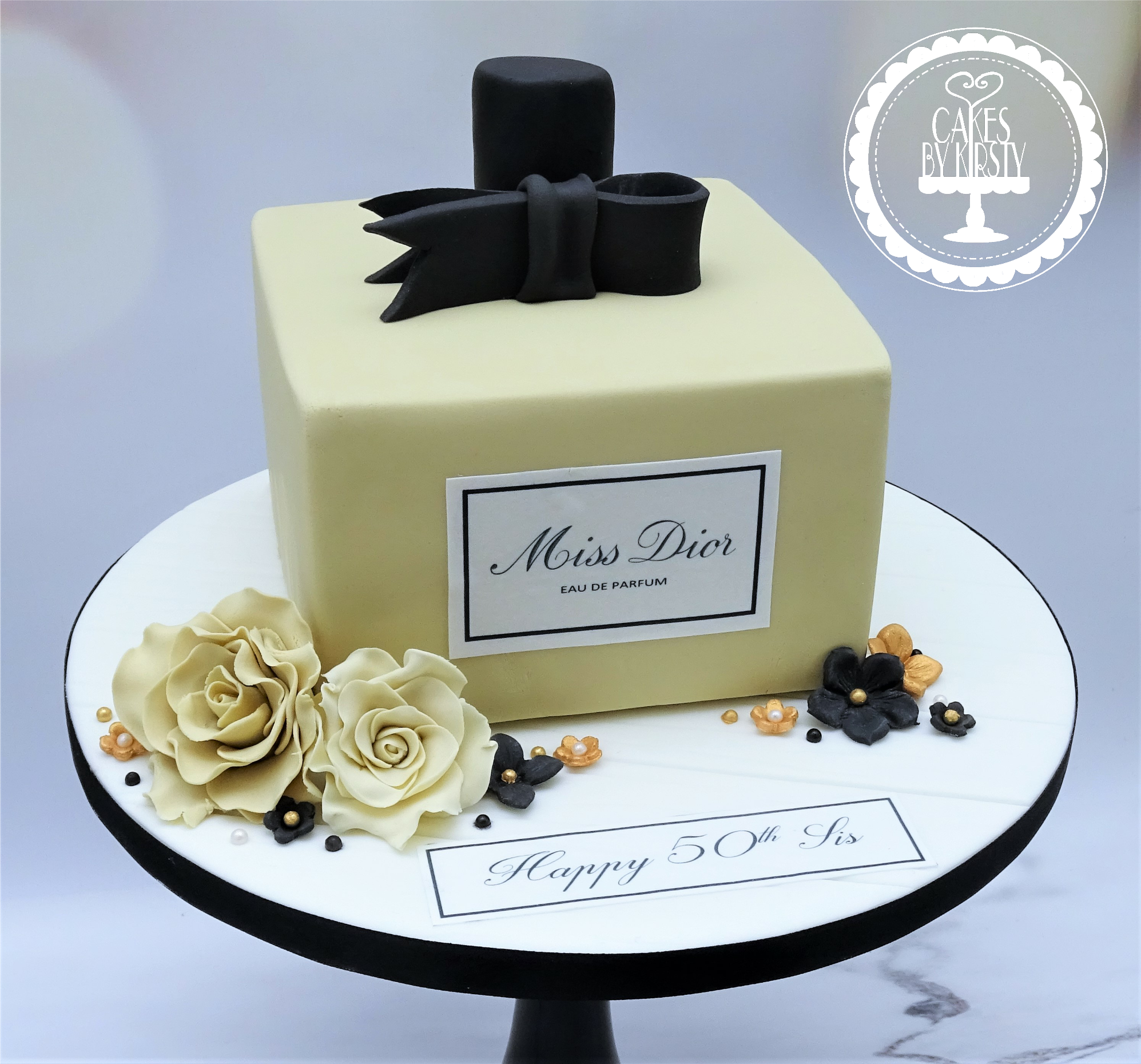 Miss Dior Perfume Bottle Birthday Cake