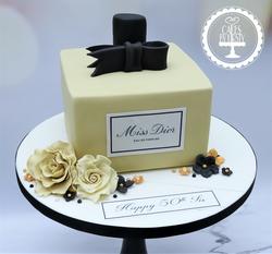 Miss Dior Perfume Bottle Birthday Cake