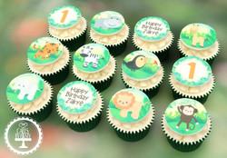 20210113 - Jungle Animal Cupcakes
