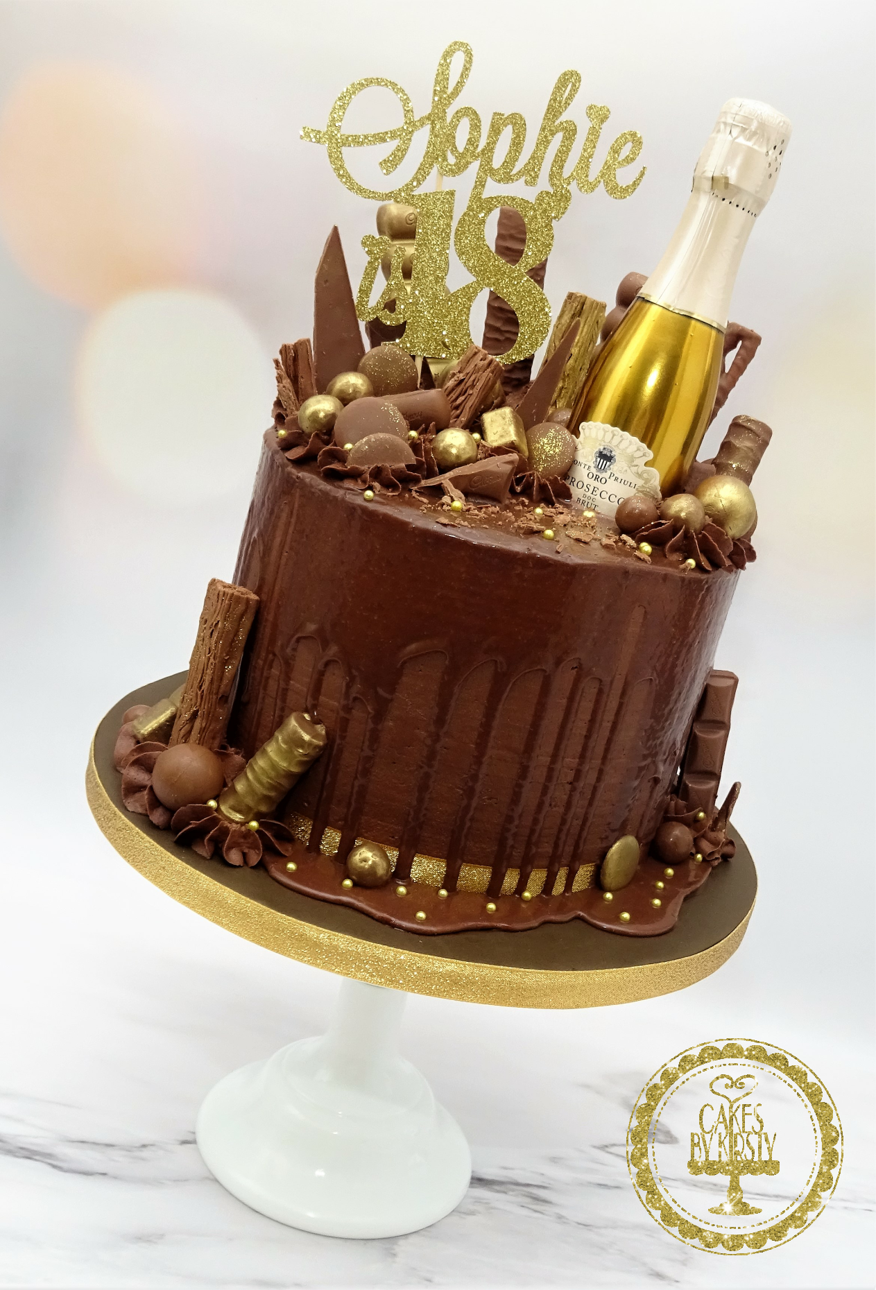 Prosecco & Chocolate Drip Cake