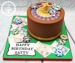 Roulette Table Cake