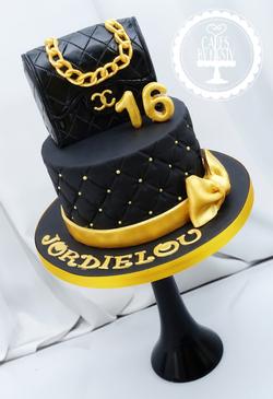 Chanel Bag Cake for 16th Birthday