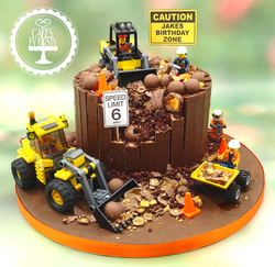 Lego Digger 6th Birthday Cake