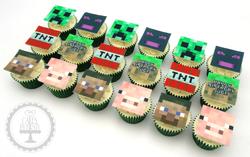 Minecraft Edible Image Cupcakes