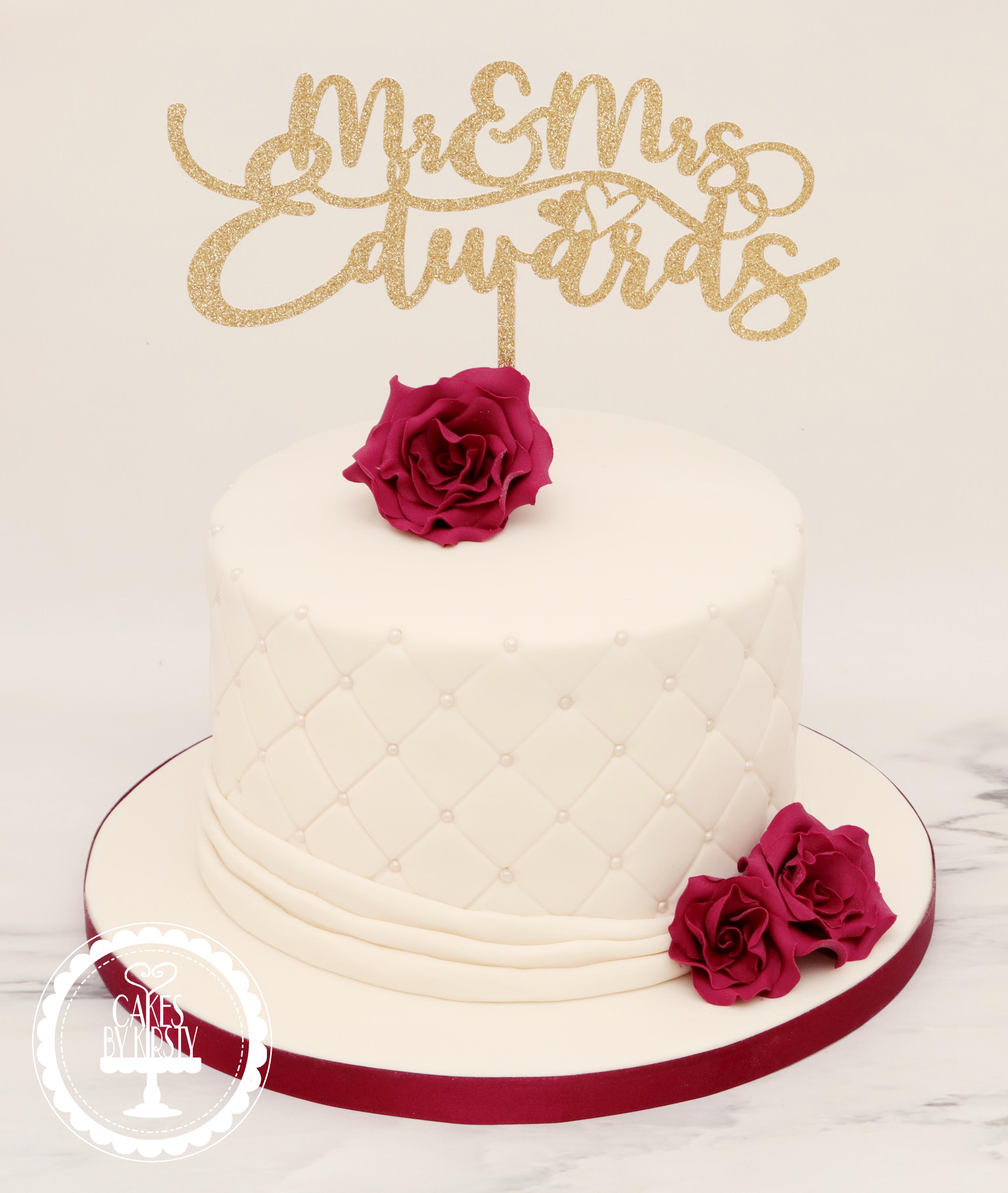 20190710 - Burgundy Wedding Cake