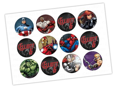 """Marvel Avengers - 12x 2.25"""""""