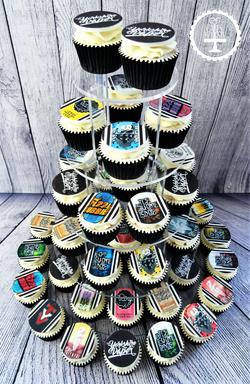 The Yorkshire Vaper Company Logo Cupcakes