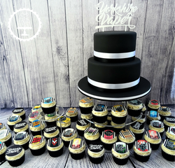 The Yorkshire Vaper Company Logo Cake & Cupcakes