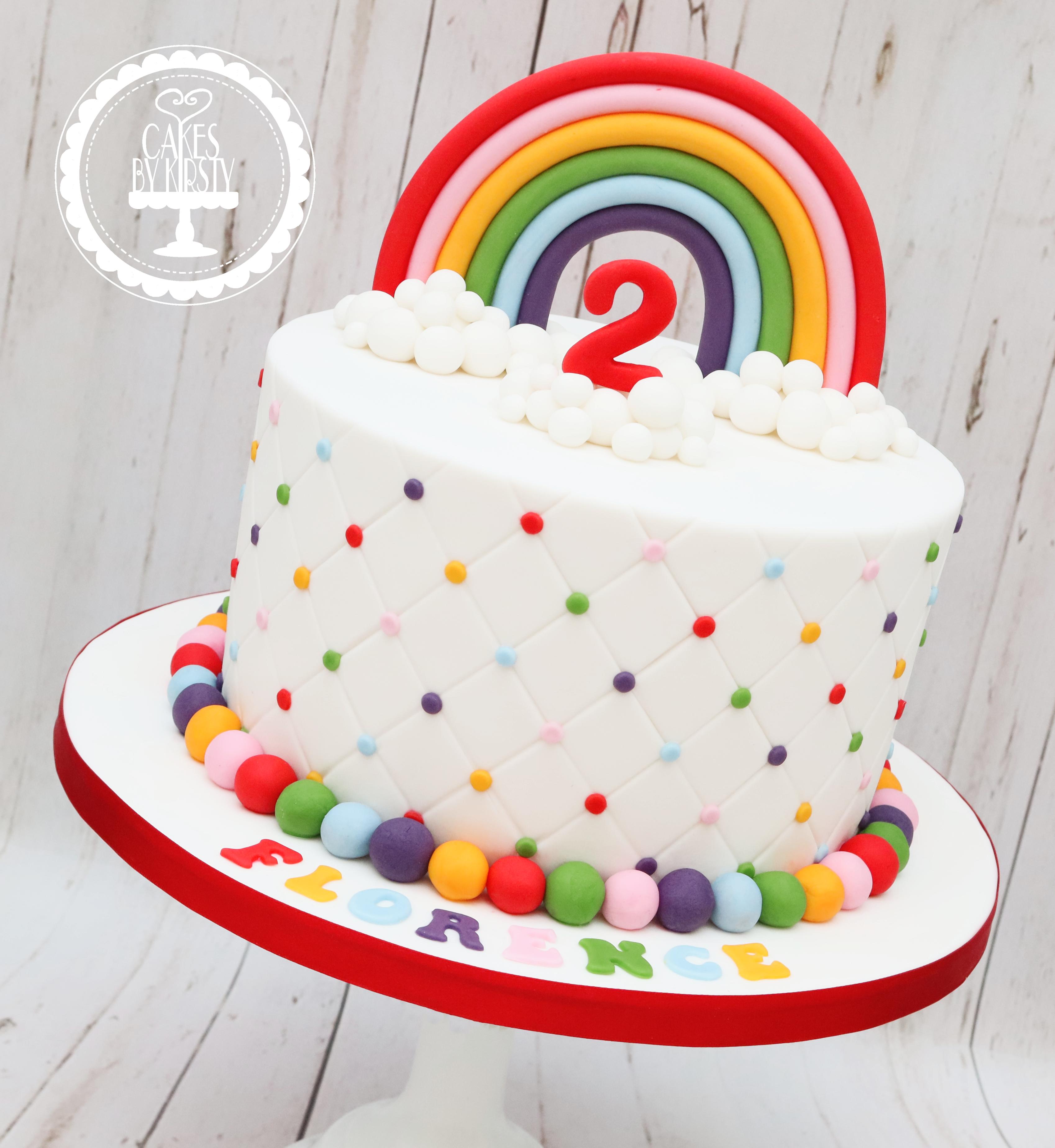 20190824 - Rainbow 2nd Birthday Cake