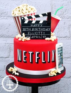 Netflix 18th Birthday Cake