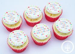 Teacher Christmas Cupcakes