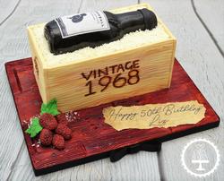 Cannonball Wine Bottle Box Cake