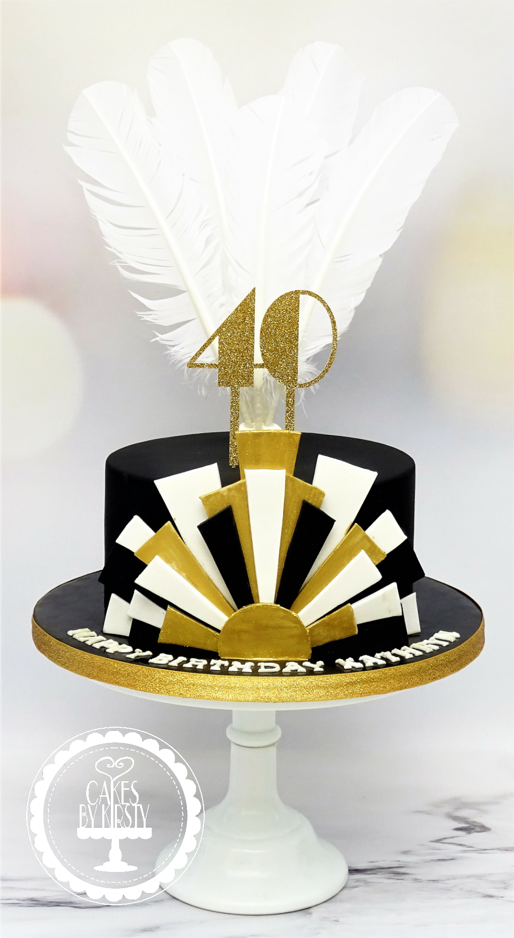 Gatsby 40th Birthday Cake