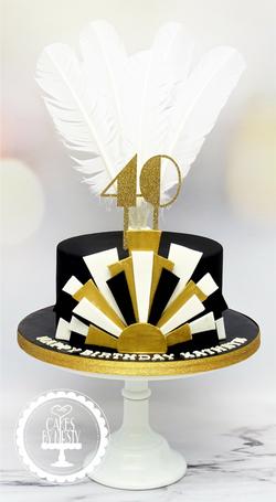 Gatsby 40th Birthday Cake