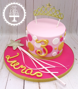 Princess Tiara 3rd Birthday Cake