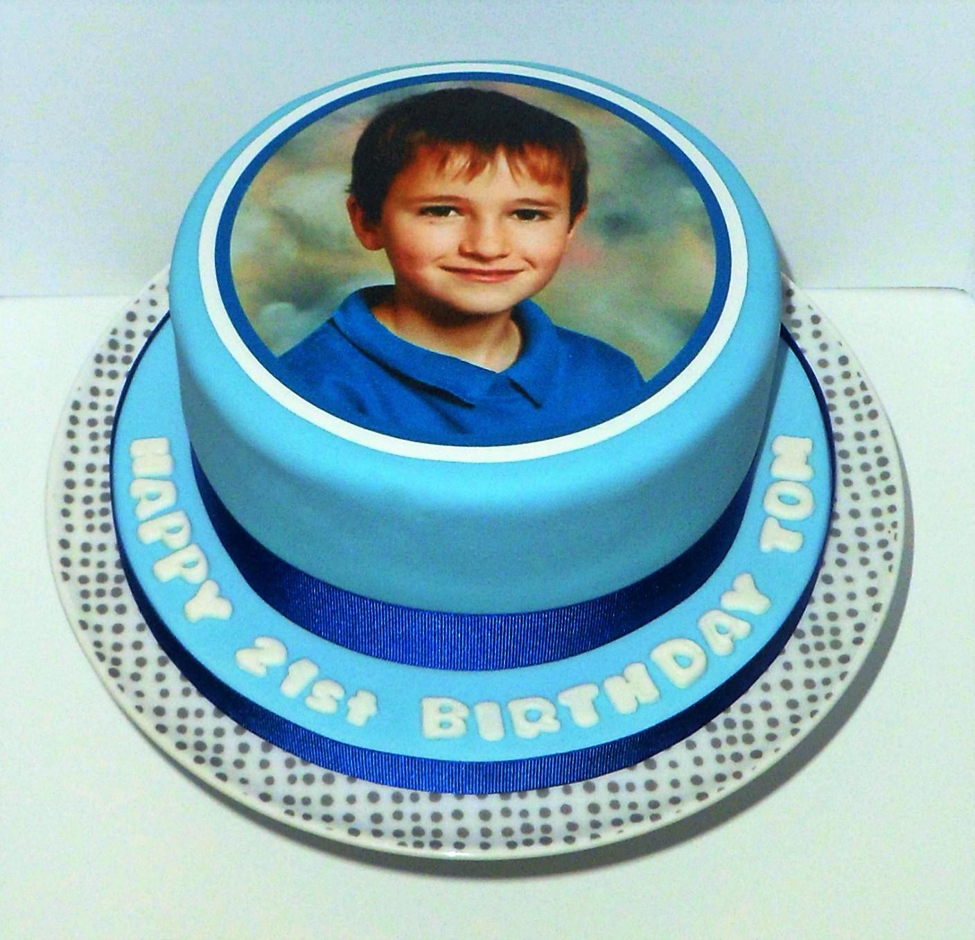 21st Photo Cake