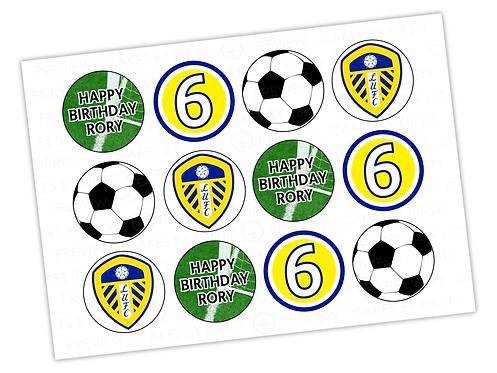"Leeds United - 12x 2.25"""