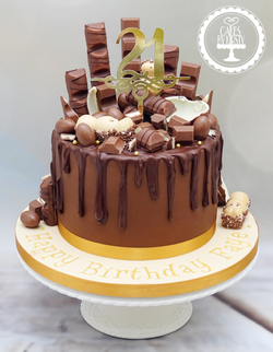 Kinder Chocolate Drip Cake